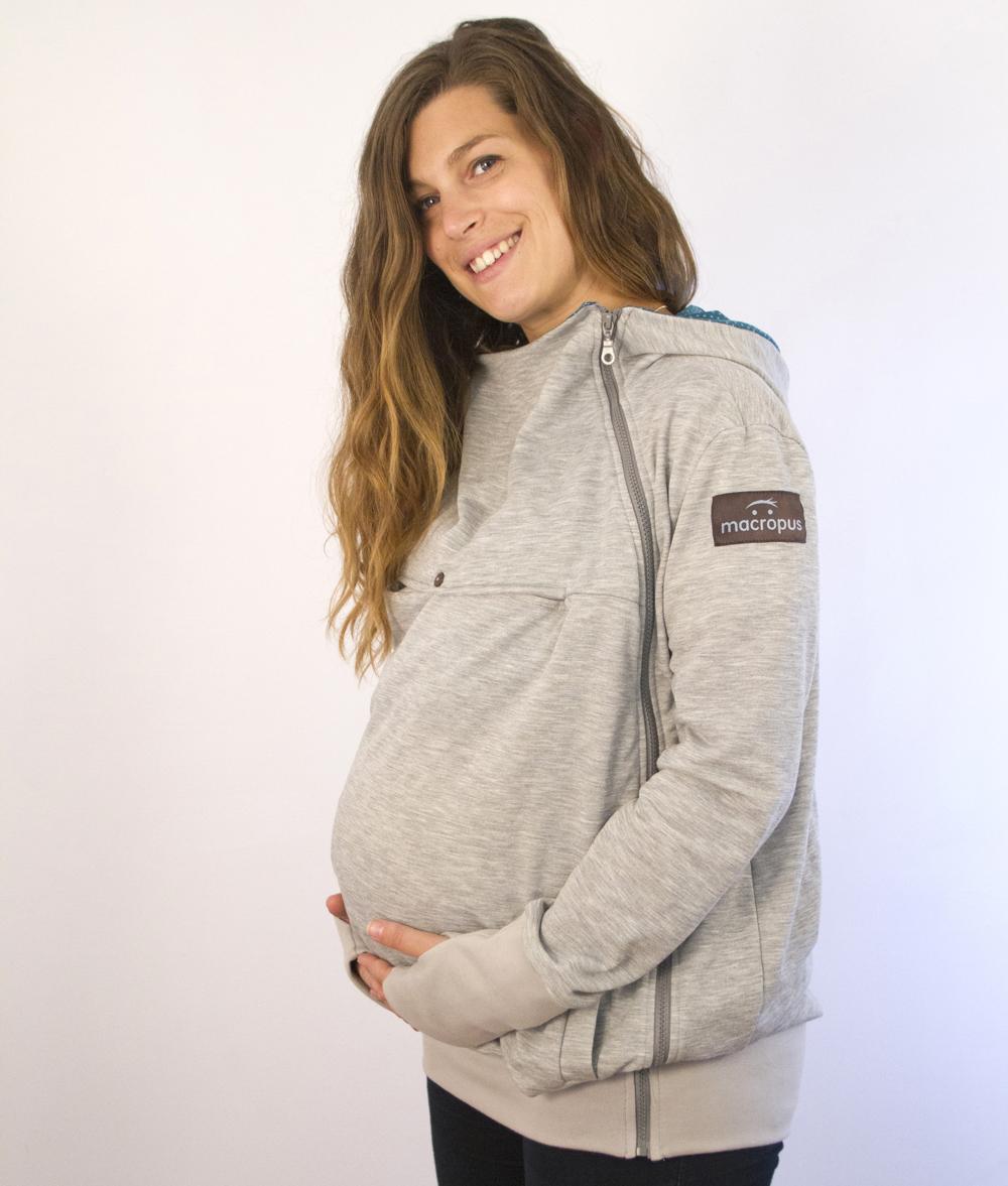 Abrigo porteo y embarazo sudadera gris for Abrigo embarazo y porteo