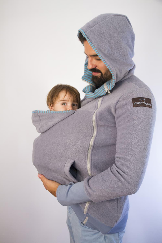 Abrigo porteo y embarazo polar gris azulado for Abrigo embarazo y porteo